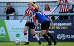 CHELTENHAM, ENGLAND - SEPTEMBER 26: Kelly Snook(L) of Southampton during the FA National League Southern Premier match between   Southampton Women and London Bees at The Snows Stadium on September 26, 2021 in  Cheltenham, England. (Photo by Isabelle Field/Southampton FC via Getty Images)