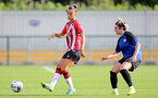 CHELTENHAM, ENGLAND - SEPTEMBER 26: Laura Rafferty(L) of Southampton during the FA National League Southern Premier match between Southampton Women and London Bees at The Snows Stadium on September 26, 2021 in  Cheltenham, England. (Photo by Isabelle Field/Southampton FC via Getty Images)