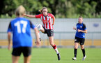 CHELTENHAM, ENGLAND - SEPTEMBER 26: Alisha Ware of Southampton during the FA National League Southern Premier match between   Southampton Women and London Bees at The Snows Stadium on September 26, 2021 in  Cheltenham, England. (Photo by Isabelle Field/Southampton FC via Getty Images)