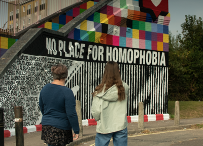 Saints and hummel unveil mural in support of LGBTQ+ inclusivity