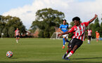 BIRMINGHAM, ENGLAND - SEPTEMBER 27: Joshua Lett of Southampton during the Premier League 2 match between Birmingham City and Southampton B Team at Wast Hills Training Ground on September 27, 2021 in Birmingham , England. (Photo by Isabelle Field/Southampton FC via Getty Images)