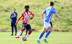 BIRMINGHAM, ENGLAND - SEPTEMBER 27: Kegs Chauke(L) of Southampton during the Premier League 2 match between Birmingham City and Southampton B Team at Wast Hills Training Ground on September 27, 2021 in Birmingham , England. (Photo by Isabelle Field/Southampton FC via Getty Images)