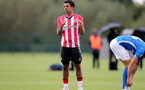 BIRMINGHAM, ENGLAND - SEPTEMBER 27: Caleb Watts of Southampton during the Premier League 2 match between Birmingham City and Southampton B Team at Wast Hills Training Ground on September 27, 2021 in Birmingham , England. (Photo by Isabelle Field/Southampton FC via Getty Images)