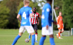 BIRMINGHAM, ENGLAND - SEPTEMBER 27: Dynel Simeu of Southampton during the Premier League 2 match between Birmingham City and Southampton B Team at Wast Hills Training Ground on September 27, 2021 in Birmingham , England. (Photo by Isabelle Field/Southampton FC via Getty Images)