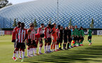 SOUTHAMPTON, ENGLAND - OCTOBER 01: Southampton players during the Premier League 2 match between Southampton B Team and Stoke City at Staplewood Training Ground on October 01, 2021 in Southampton, England. (Photo by Isabelle Field/Southampton FC via Getty Images)