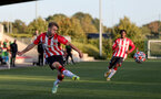 SOUTHAMPTON, ENGLAND - OCTOBER 01: Lewis Payne of Southampton during the Premier League 2 match between Southampton B Team and Stoke City at Staplewood Training Ground on October 01, 2021 in Southampton, England. (Photo by Isabelle Field/Southampton FC via Getty Images)
