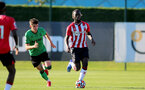 SOUTHAMPTON, ENGLAND - OCTOBER 01: Dynel Simeu of Southampton during the Premier League 2 match between Southampton B Team and Stoke City at Staplewood Training Ground on October 01, 2021 in Southampton, England. (Photo by Isabelle Field/Southampton FC via Getty Images)