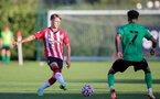 SOUTHAMPTON, ENGLAND - OCTOBER 01: Lewis Payne(L) of Southampton during the Premier League 2 match between Southampton B Team and Stoke City at Staplewood Training Ground on October 01, 2021 in Southampton, England. (Photo by Isabelle Field/Southampton FC via Getty Images)