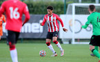 SOUTHAMPTON, ENGLAND - OCTOBER 01: Oludare Olufunwa of Southampton during the Premier League 2 match between Southampton B Team and Stoke City at Staplewood Training Ground on October 01, 2021 in Southampton, England. (Photo by Isabelle Field/Southampton FC via Getty Images)
