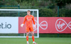 SOUTHAMPTON, ENGLAND - OCTOBER 01: Jack Bycroft of Southampton during the Premier League 2 match between Southampton B Team and Stoke City at Staplewood Training Ground on October 01, 2021 in Southampton, England. (Photo by Isabelle Field/Southampton FC via Getty Images)