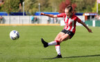 SOUTHAMPTON, ENGLAND - OCTOBER 03: Alisha Ware of Southampton during the FA National League Southern Premier match between Southampton Women and Keynsham Town at The Snows Stadium on October 03, 2021 in Southampton, England. (Photo by Isabelle Field/Southampton FC via Getty Images)