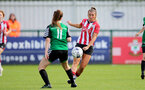 SOUTHAMPTON, ENGLAND - OCTOBER 03: Ciara Watling(R) of Southampton during the FA National League Southern Premier match between Southampton Women and Keynsham Town at The Snows Stadium on October 03, 2021 in Southampton, England. (Photo by Isabelle Field/Southampton FC via Getty Images)