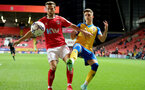 LONDON, ENGLAND - OCTOBER 06:  Lewis Payne(R) of Southamptonduring the Papa John's Trophy match between Charlton Athletic and Southampton B Team at The Valley on October 06, 2021 in London, England. (Photo by Isabelle Field/Southampton FC via Getty Images)