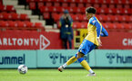 LONDON, ENGLAND - OCTOBER 06: Oludare Olufunwa of Southampton during the Papa John's Trophy match between Charlton Athletic and Southampton B Team at The Valley on October 06, 2021 in London, England. (Photo by Isabelle Field/Southampton FC via Getty Images)
