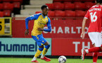 LONDON, ENGLAND - OCTOBER 06: Remello Mitchell of Southampton during the Papa John's Trophy match between Charlton Athletic and Southampton B Team at The Valley on October 06, 2021 in London, England. (Photo by Isabelle Field/Southampton FC via Getty Images)