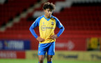 LONDON, ENGLAND - OCTOBER 06: Kamari Doyle of Southampton during the Papa John's Trophy match between Charlton Athletic and Southampton B Team at The Valley on October 06, 2021 in London, England. (Photo by Isabelle Field/Southampton FC via Getty Images)