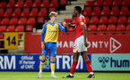 LONDON, ENGLAND - OCTOBER 06: Dominic Ballard(L) of Southampton during the Papa John's Trophy match between Charlton Athletic and Southampton B Team at The Valley on October 06, 2021 in London, England. (Photo by Isabelle Field/Southampton FC via Getty Images)