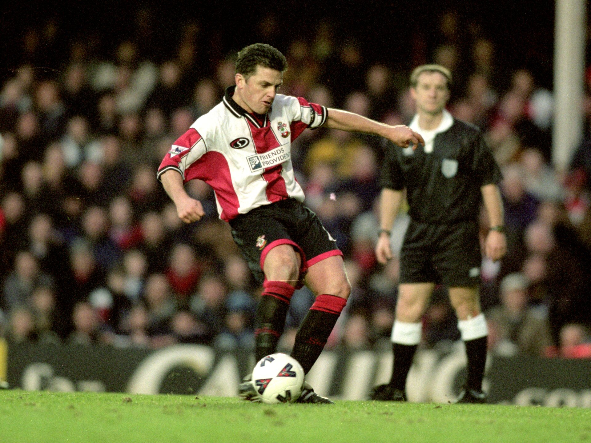 27 Jan 2001:  Jason Dodd of Southampton scores a penalty during the FA Cup Fourth Round match against Sheffield Wednesday at the Dell in Southampton, England. Southampton won 3-1. \ Mandatory Credit: Craig Prentis /Allsport