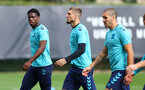 SOUTHAMPTON, ENGLAND - OCTOBER 14: L to R Thierry Small, Lyanco and Oriol Romeu during a Southampton FC training session at the Staplewood Campus on October 14, 2021 in Southampton, England. (Photo by Matt Watson/Southampton FC via Getty Images)